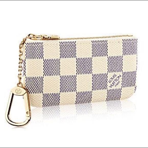 09c51fb5f03 Louis Vuitton Handbags - RARE Louis Vuitton Key Pouch in damier azur canvas